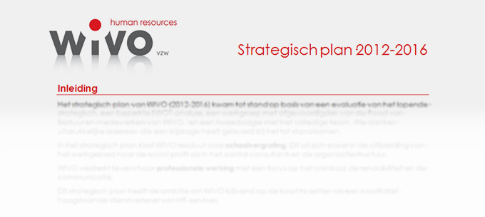 Screen grab WIVO Strategisch plan
